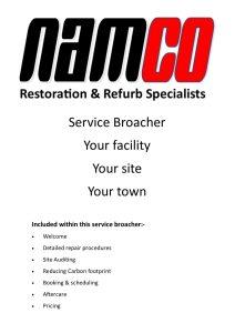 Namco Refurb servise broucher