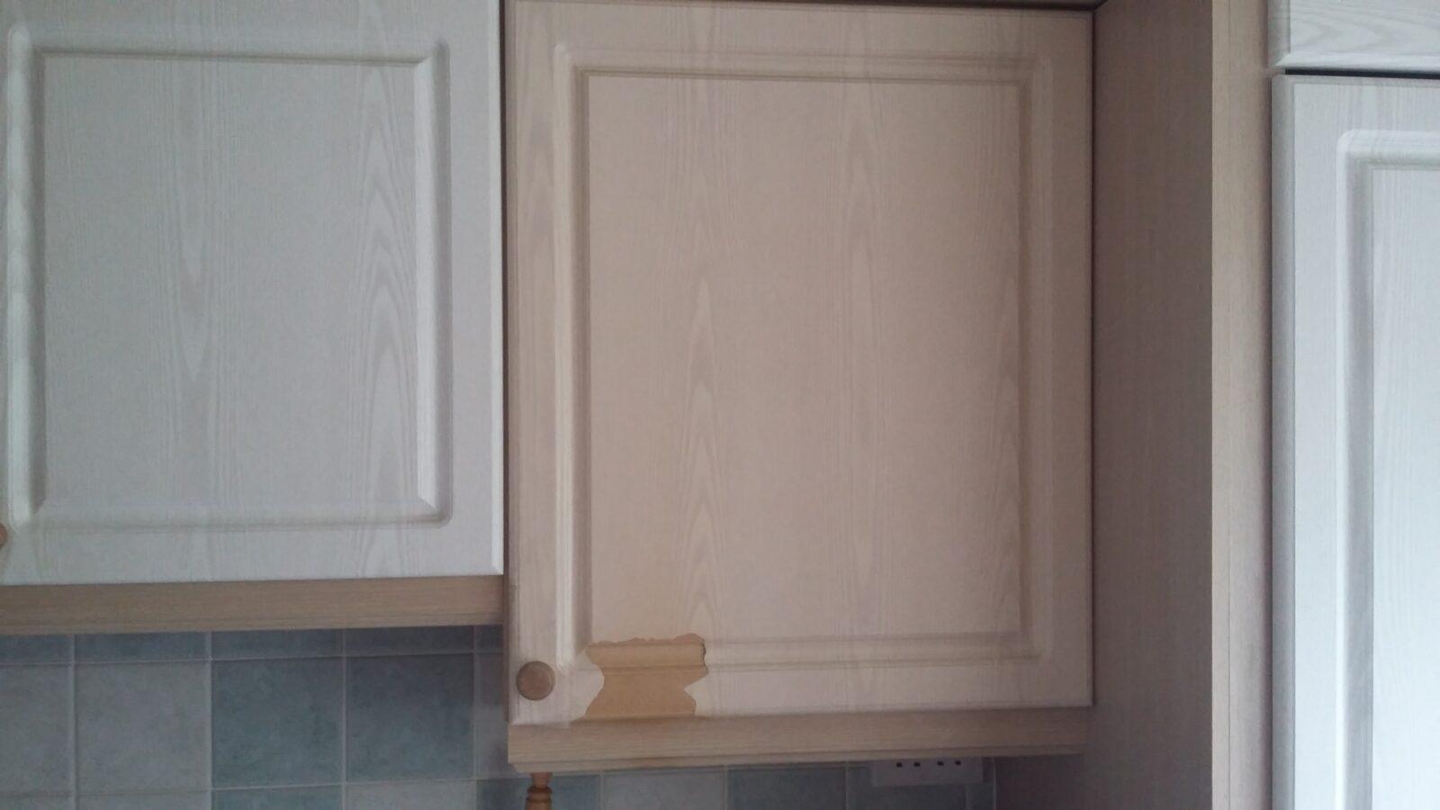 Toaster Burn Kitchen Cupboard Door Repair Namco Refurbs