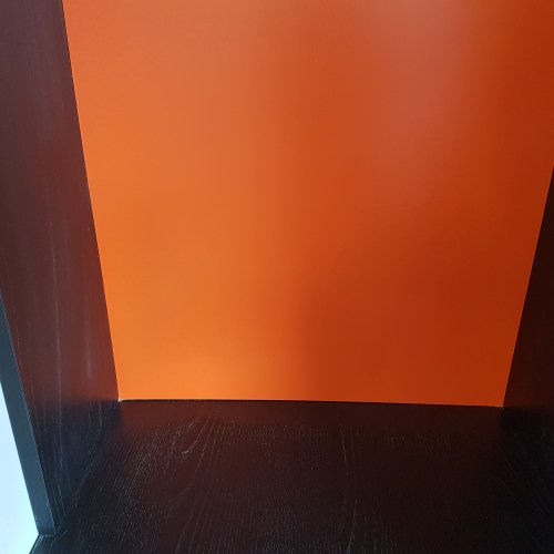 LAMINATED PANEL SOCKETS CUT OUT WRONG REPAIR COLOUR MATCH BEFORE (2)