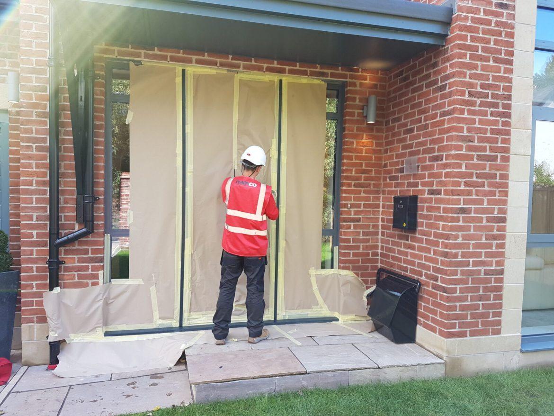 WINDOW FRAME ON SITE CONSTRUCTION SPRAYING REFINISHING COLOUR CHANGE MANCHESTER CHESHIRE LEEDS LIVERPOOL BIRMINGHAM