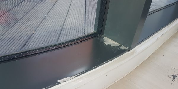POWDER COATED WINDOW FRAME REPAIRS AND SPRAYING SCRATCH CHIP DENT DRILL HOLE REPAIRS
