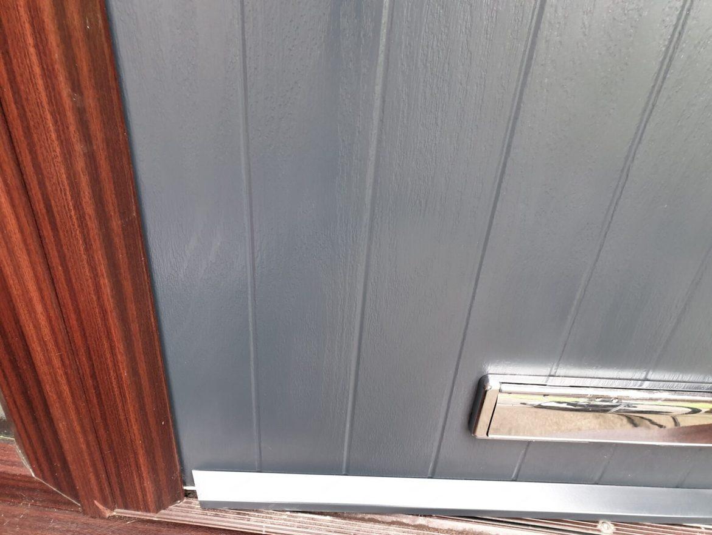 GREY COMPOSITE DOOR SCRATCH REPAIR MANCHESTER AFTER