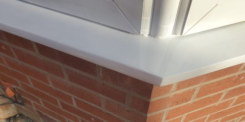 BADLY DAMAGED UPVC PLASTIC WINDOW SILL REPAIR AFTER