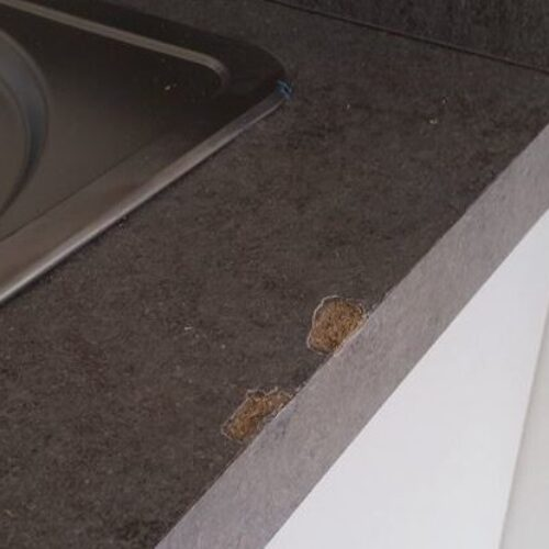 CHIPPED BURNT DAMAGED WORKTOP REPAIR MANCHESTER BEFORE