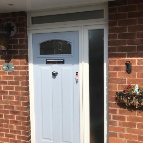 PLASTIC UPVC WINDOW DOOR FRAME COLOUR CHANGE SPRAYING MANCHESTER 12 AFTER