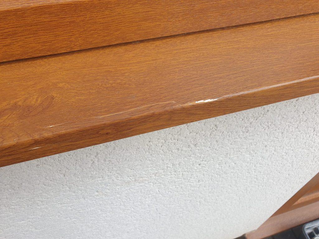 UPVC PLASTIC WINDOW SILL CILL SCRATCH CHIP DENT REPAIR BEFORE