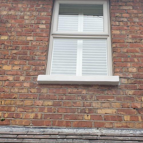 VICTORIAN HOUSE SANDSTONE CONCRETE SILL CILL RESTORATION REPAIR REFURBISHMENT 2 COMPLETE REBUILD AFTER