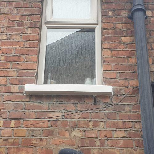 VICTORIAN HOUSE SANDSTONE CONCRETE SILL CILL RESTORATION REPAIR REFURBISHMENT 3 COMPLETE REBUILD AFTER