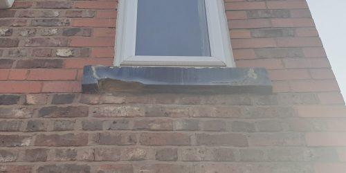 SAND STONE SILL CONCRETE SILL WINDOW SILL CRUMBLING REFURBISHMENT REPAIR MANCHESTER 1