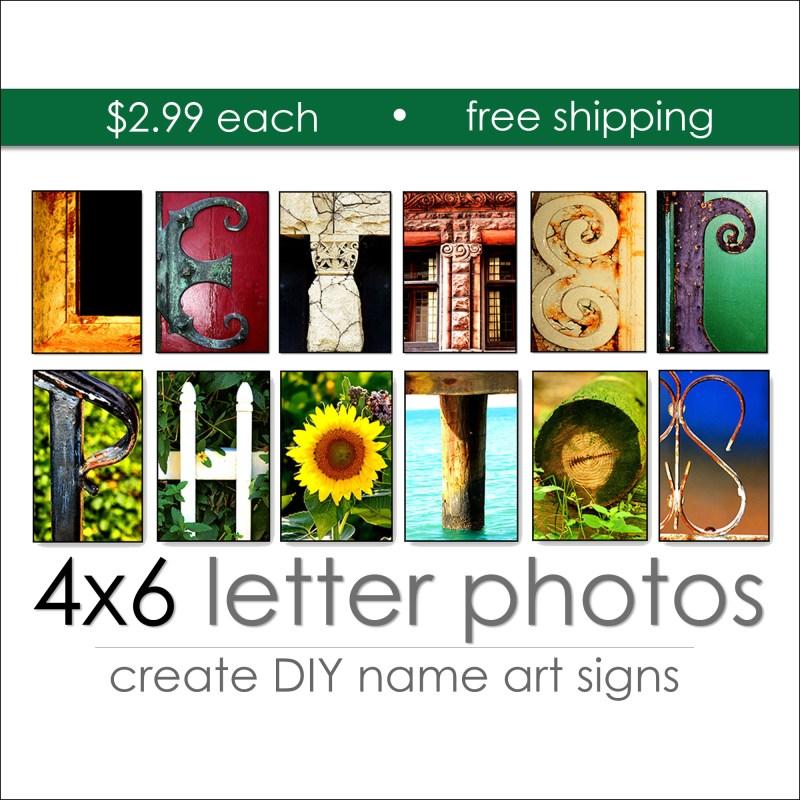 Letter Art Individual Color Prints