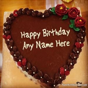 Happy Birthday Cake For Wife With Name And Photo