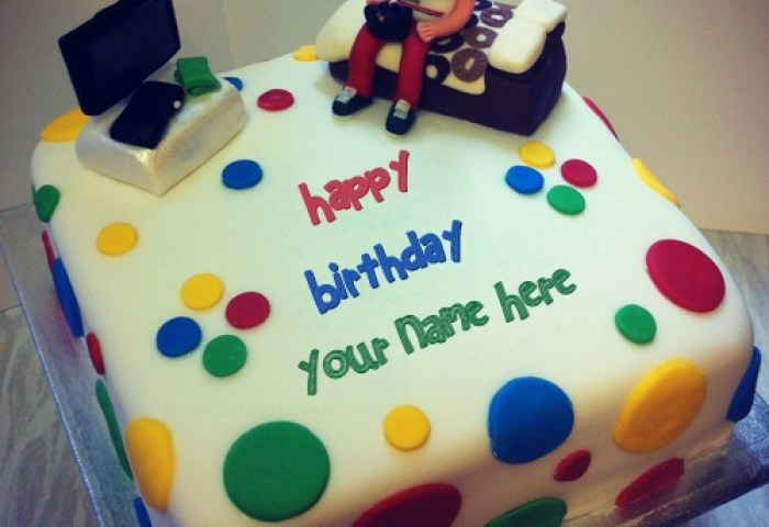 95 Birthday Cake With Name For Boys Happy Birthday Baby Cake For