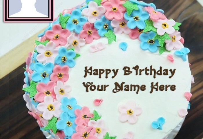 Happy Birthday Sister Images Of Cakes With Name And Photo