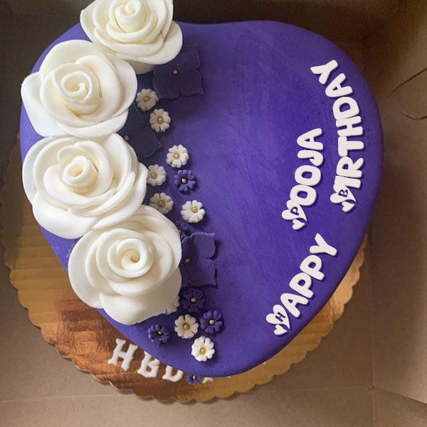 Happy Birthday Pooja Cakes Cards Wishes
