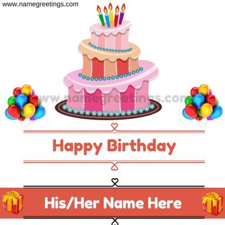 Write Name On Birthday Cake - Write Sister or Girlfriend name On Cake