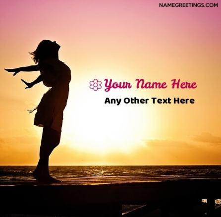create girl DP with name