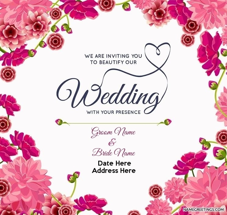 Create Custom Wedding Invitation With Your Names Date And