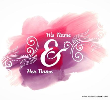 write couple name on colorful poster