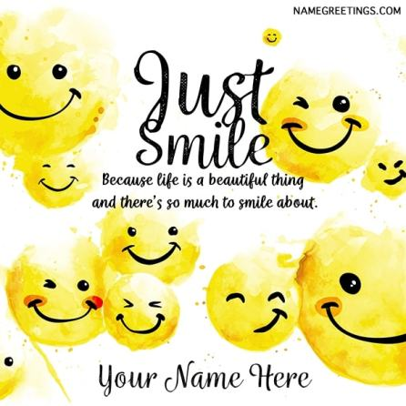 just smile name card
