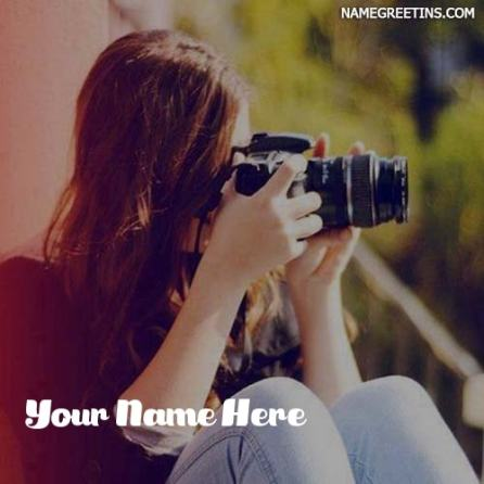 Make Name DP For Photographer Girl