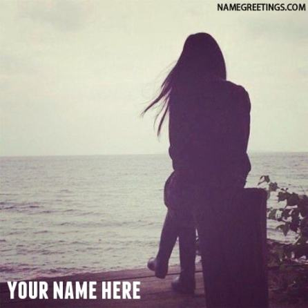 alone girl profile photo with name