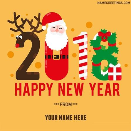 christmas new year 2018 name photo