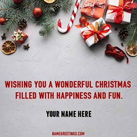create christmas name card