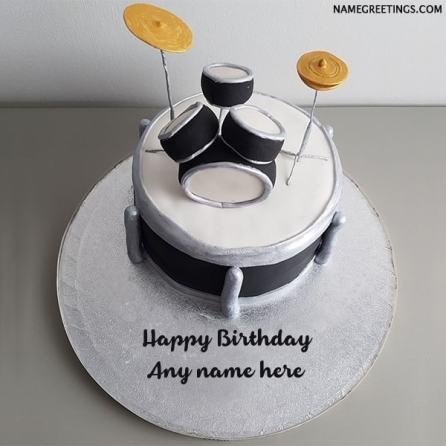 drums name birthday cake