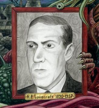 Portrait recadré de Lovecraft