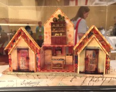 """""""The Accordion House"""" altered miniature exhibited by Debby Basaraba at the NAME 2016 Convention."""