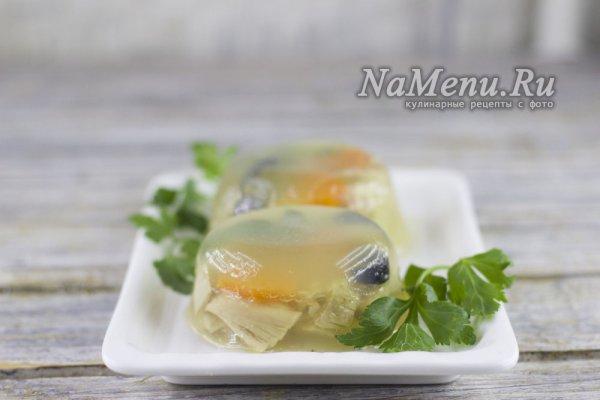 Холодец из курицы с желатином, рецепт с фото пошагово