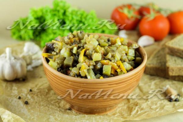 Соте из баклажанов и кабачков, рецепт с фото