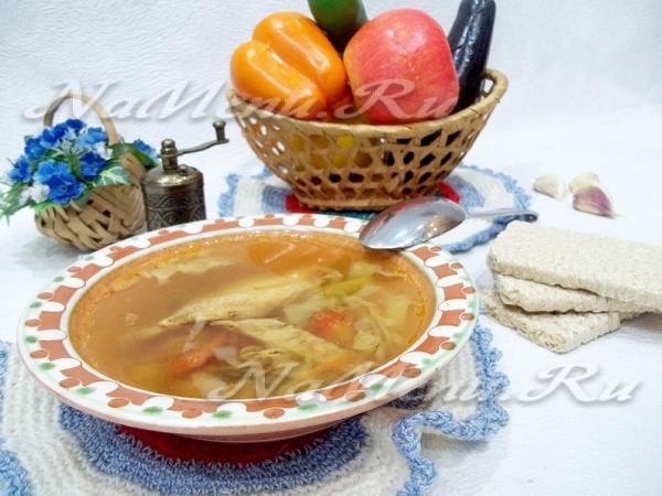 Куриный суп с грибами, рецепт с фото