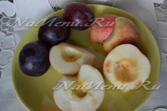 Šljive i jabuke za zimu (bez sterilizacije)