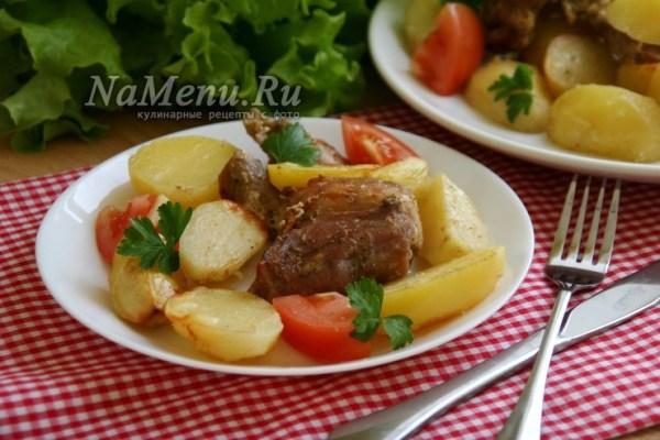 Кролик с картошкой в духовке, рецепт с фото