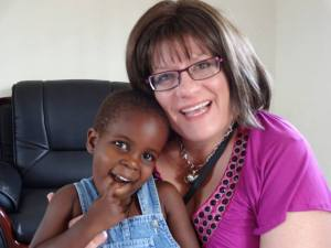 Molly Godzich in Uganda visiting Destiny Orphanage