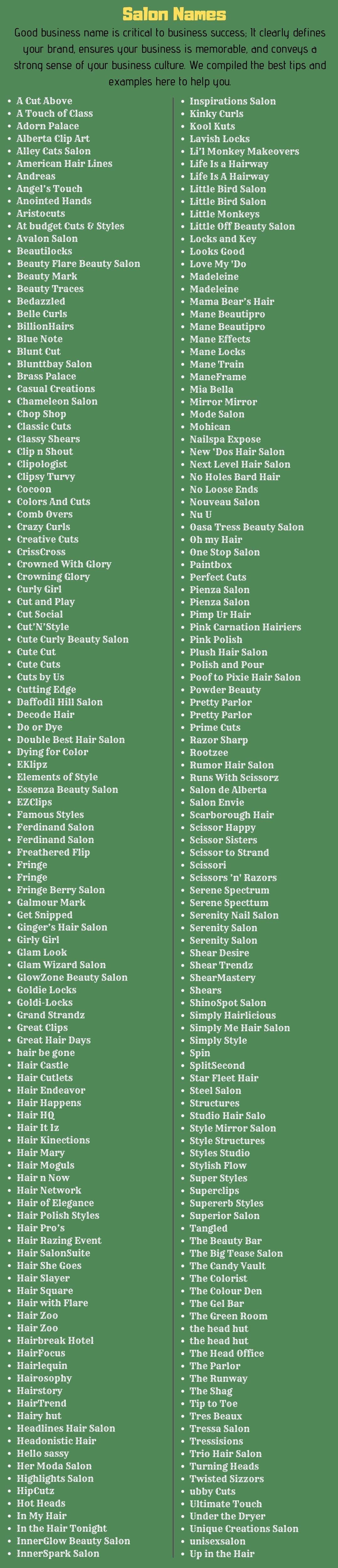 Stylish Names For Beauty Parlour   Here are some catchy beauty ...