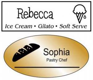 custom bakery name tags