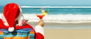 santa beach florida summer christmas in july
