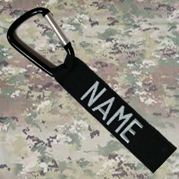 1 inch Luggage Tag With Carabiner Hook