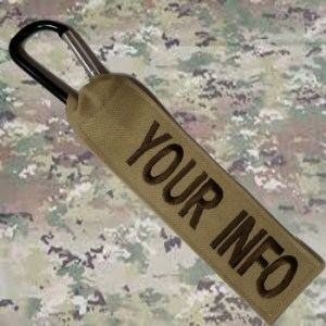 Camo Bag Luggage Tag from Name Tape Factory in Wisconsin, Veteran Owned