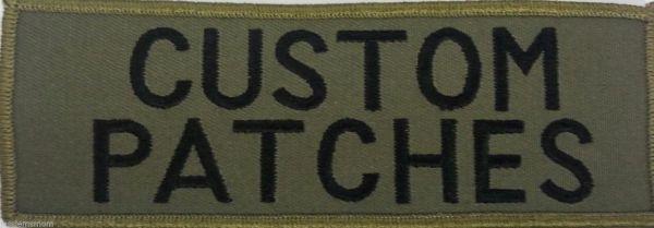 green custom patch
