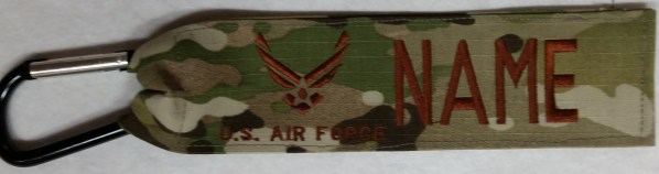 1 inch Luggage Tag With Carabiner Hook Tan/Camo