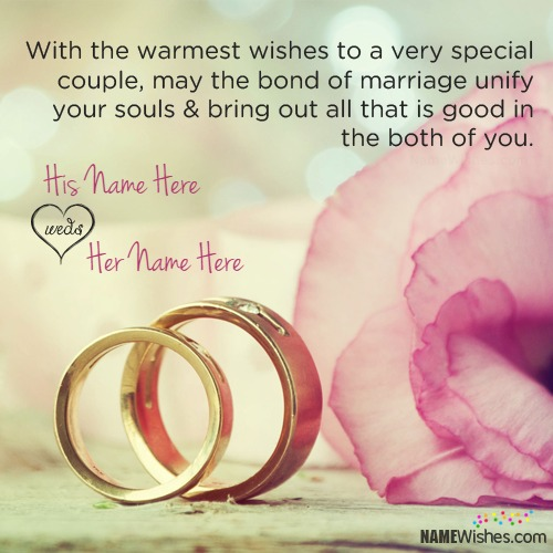 Wedding Wishes With Quote And Name Editing