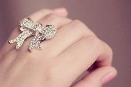Frau daumenring Ring