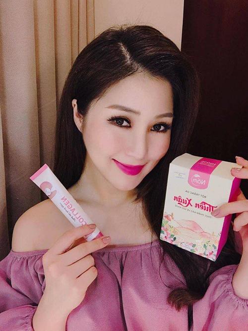 Để sở hữu làn da trắng mịn, tự tin trên sân khấu, Hương Tràm cũng chọn dòng sản phẩm này.