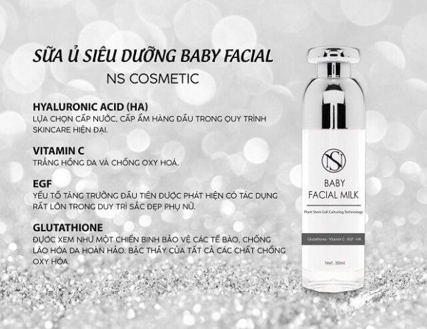 Sữa Ủ Siêu Dưỡng Baby Facial