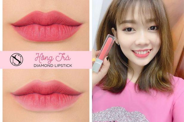 Son kem diamond lipstick màu 05 hồng trà