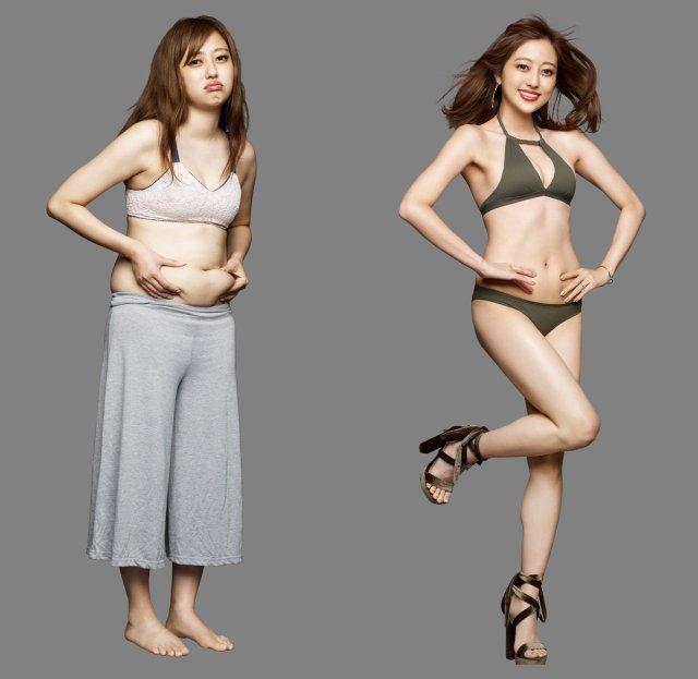 菊地亜美 10.5キロ減【比較画像あり】ライザップで美ボディー披露