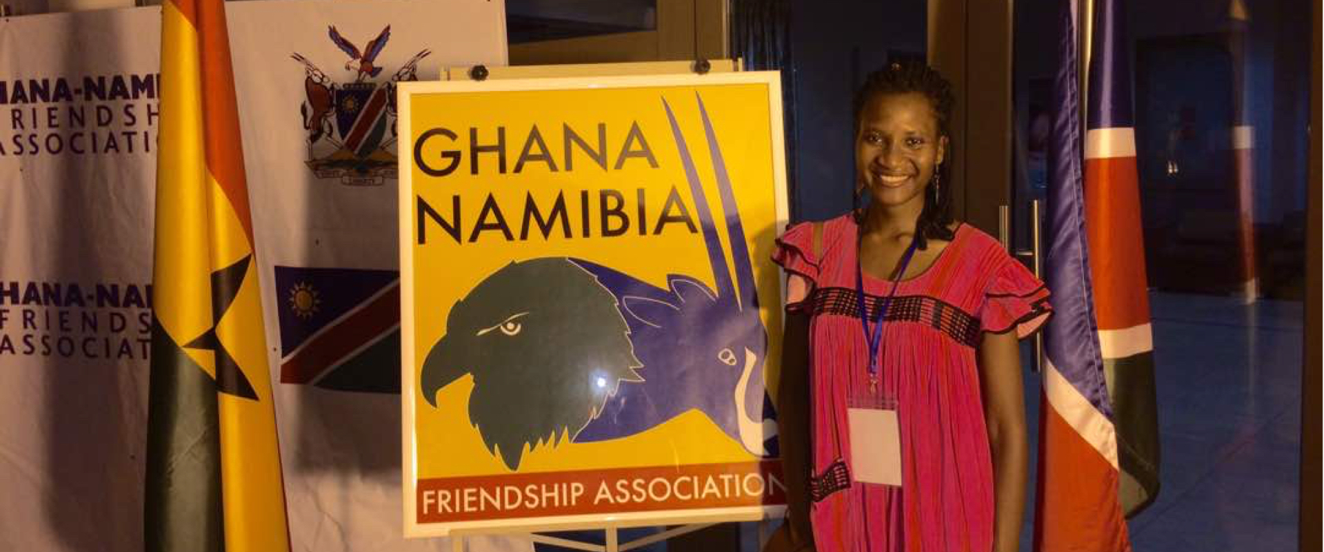 Marly Samuel 8th Batch AU-YV promoting the Namibian Culture in Accra Ghana
